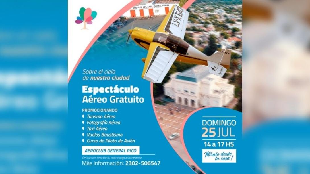 EL AEROCLUB PRESENTARÁ UN ESPECTÁCULO AÉREO GRATUITO DESDE EL CIELO DE CASA