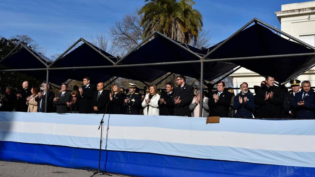 Se conmemoró el acto oficial por el 203° Aniversario de la Declaración de la Independencia Argentina