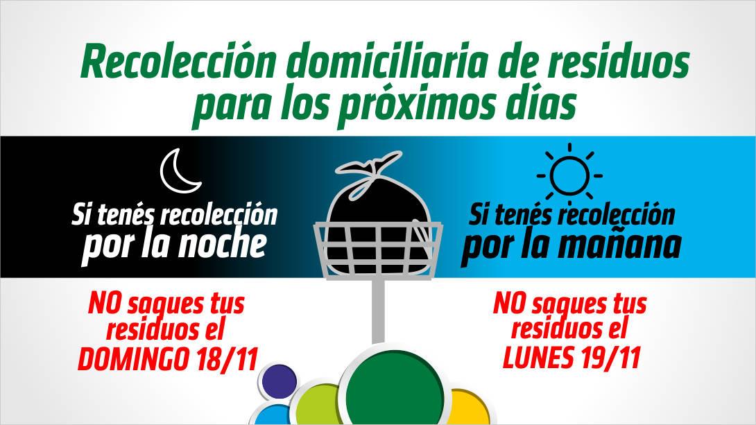 Modificación en la recolección domiciliaria de residuos