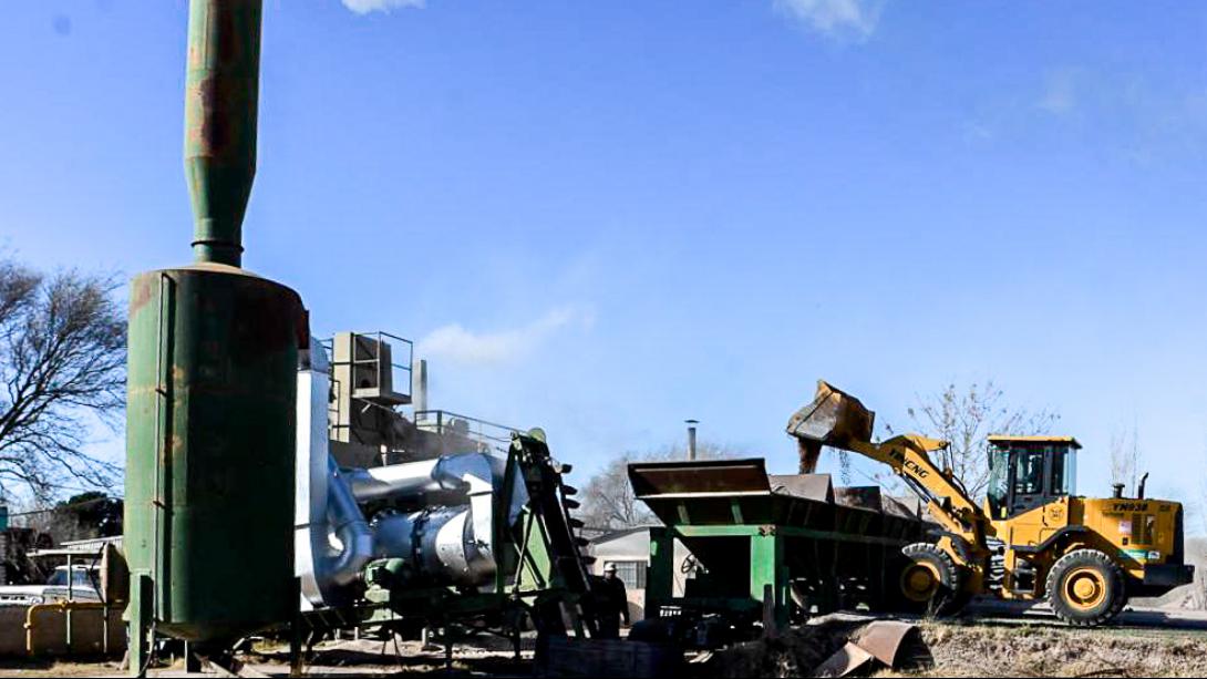Finalizaron los  trabajos de mantenimiento en la Planta de Asfalto