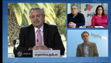 ALONSO EN TELECONFERENCIA CON ALBERTO FERNANDEZ