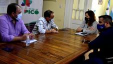 EL MINISTRO DE SEGURIDAD VISITÓ GENERAL PICO