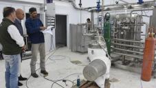 El intendente visitó la planta láctea del CERET
