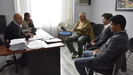 Rainone se reunió con el presidente de Bomberos