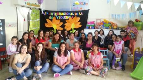 Los Centros de Desarrollo Infantil conmemoraron el Día Internacional de la No Violencia contra la Mujer
