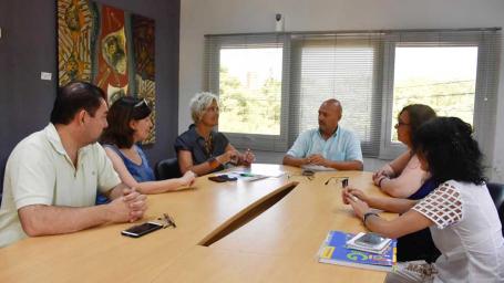 Rainone recibió a la secretaria de Cultura de La Pampa
