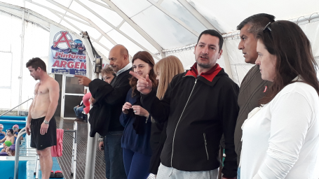 Rainone recorrió junto a la ministra Alonso el Plan Provincial de Natación