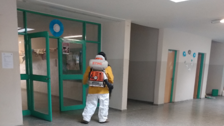 El municipio realizó trabajos de desinfección en instituciones educativas