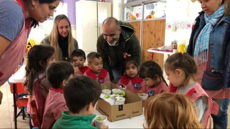 Los Centros de Desarrollo Infantil realizan actividades de huerta