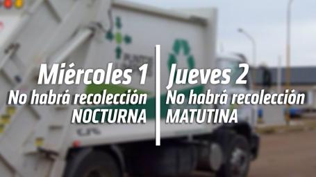 Se modifica la recolección domiciliaria de residuos