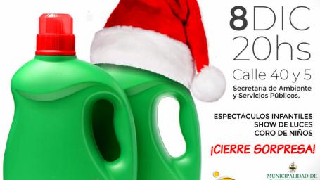 Todo listo para la inauguración del Eco Árbol navideño de la ciudad