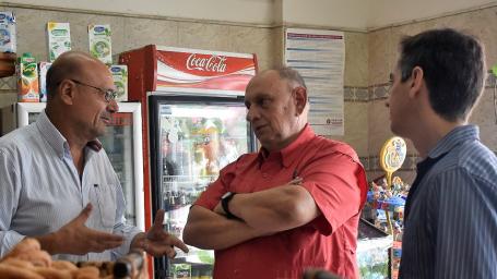 Rainone visitó emprendimientos productivos locales