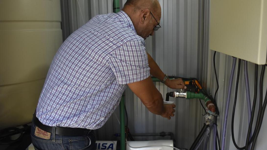 Rainone puso en funcionamiento una planta de ósmosis inversa en Trebolares