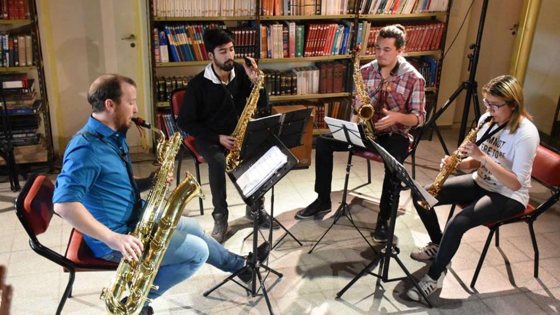 Por primera vez, realizó su presentación el cuarteto de saxofones KÜRÜF