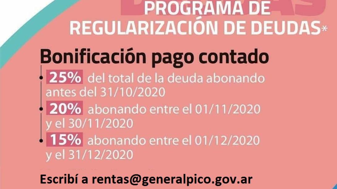 EL PROGRAMA DE REGULARIZACIÓN DE DEUDAS DE LA MUNICIPALIDAD DE GENERAL PICO ESTÁ EN MARCHA