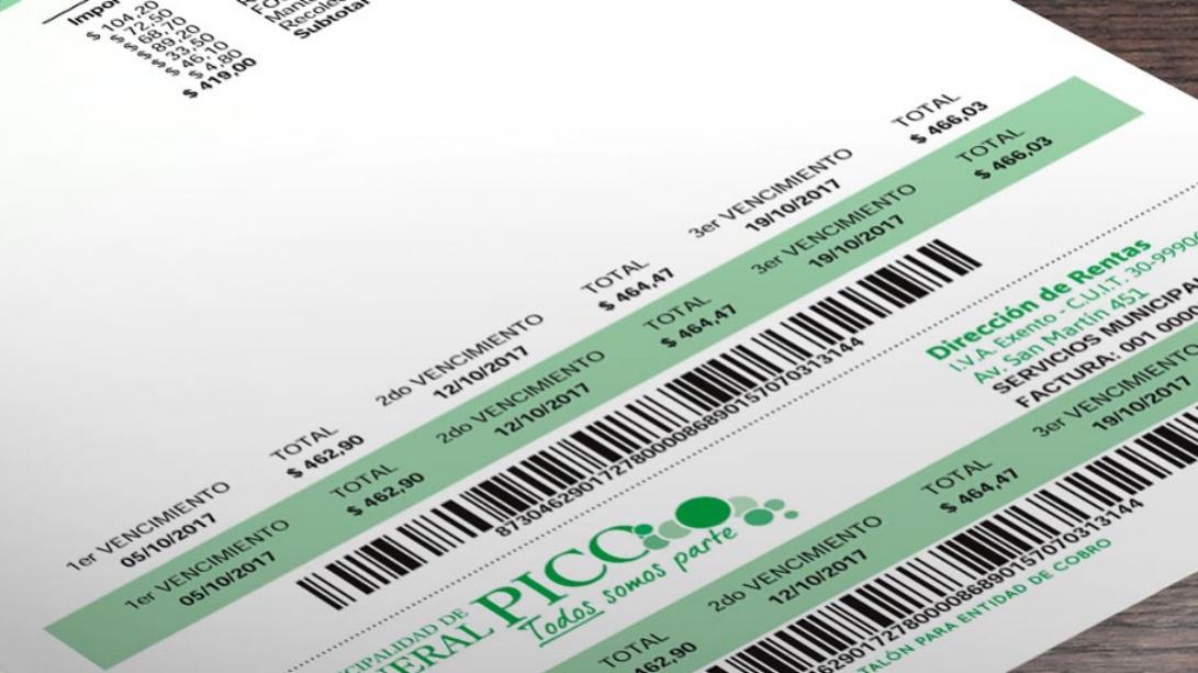 Tasas Municipales: se detectaron comprobantes con mala calidad de impresión en el código de barras