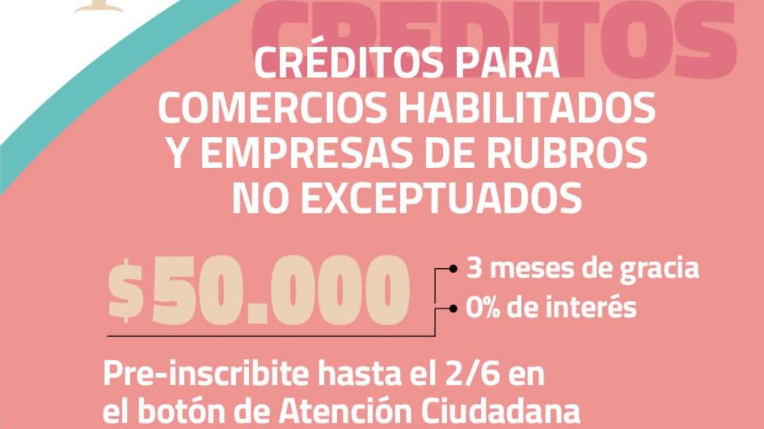 CRÉDITOS PARA COMERCIOS HABILITADOS Y EMPRESAS DE RUBRO NO EXCEPTUADOS