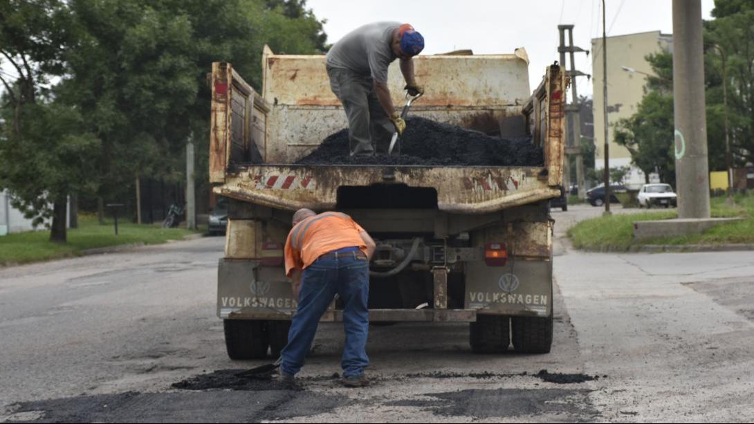 El Municipio profundizará el trabajo de bacheo en la ciudad