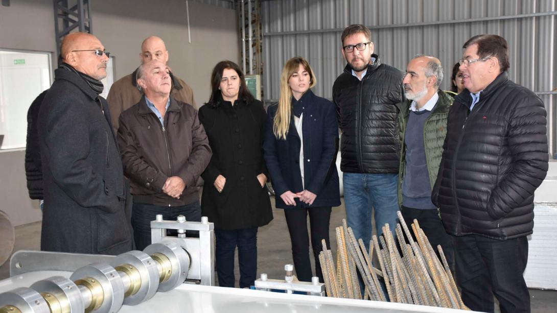 El intendente recorrió empresas en la Zona Franca