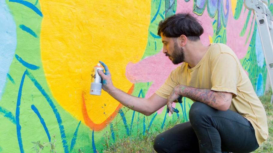 Finalizaron el mural #AmorEs