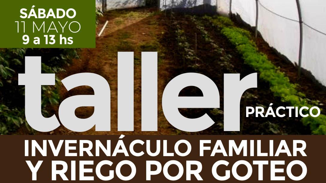 El municipio dictará el primer taller de invernáculo familiar y riego por goteo