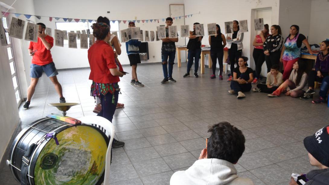 Murgueras de Buenos Aires dictaron un exitoso taller en General Pico