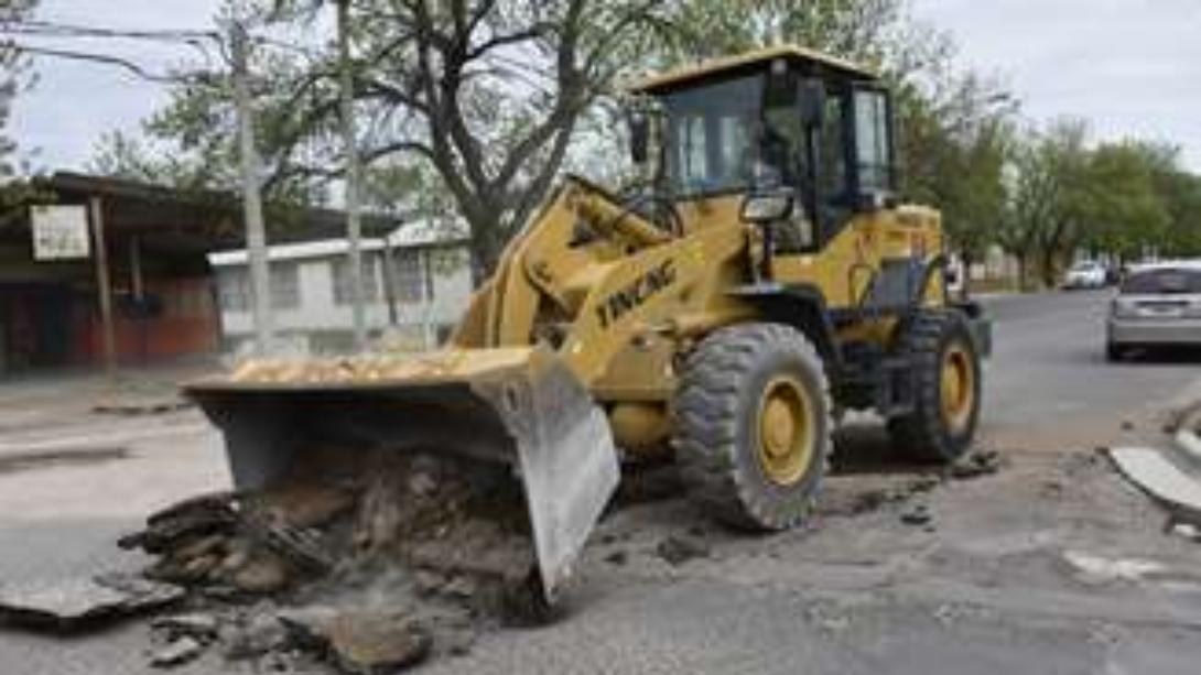 Avanzan dos obras en barrio Roca
